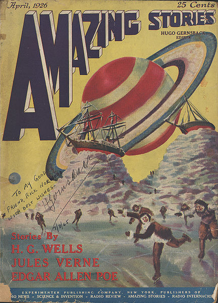 The first issue of Amazing Stories, April 1926.