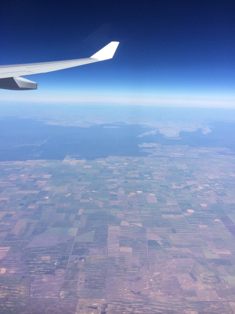 The view from the Boeing 737 on my way to Sydney. This is somewhere over NSW.