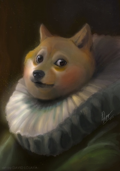 An artist's depiction of the Doge of Venice.