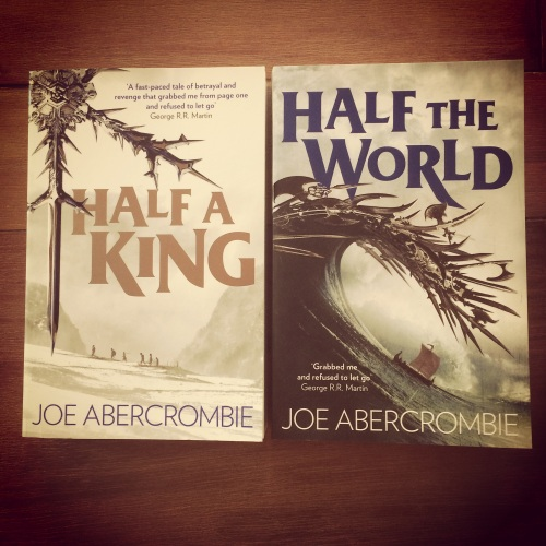 The first two books of Joe Abercrombie's Shattered Sea Trilogy, courtesy of my Instagram. The Earlybird filter was designed to make books look amazing.
