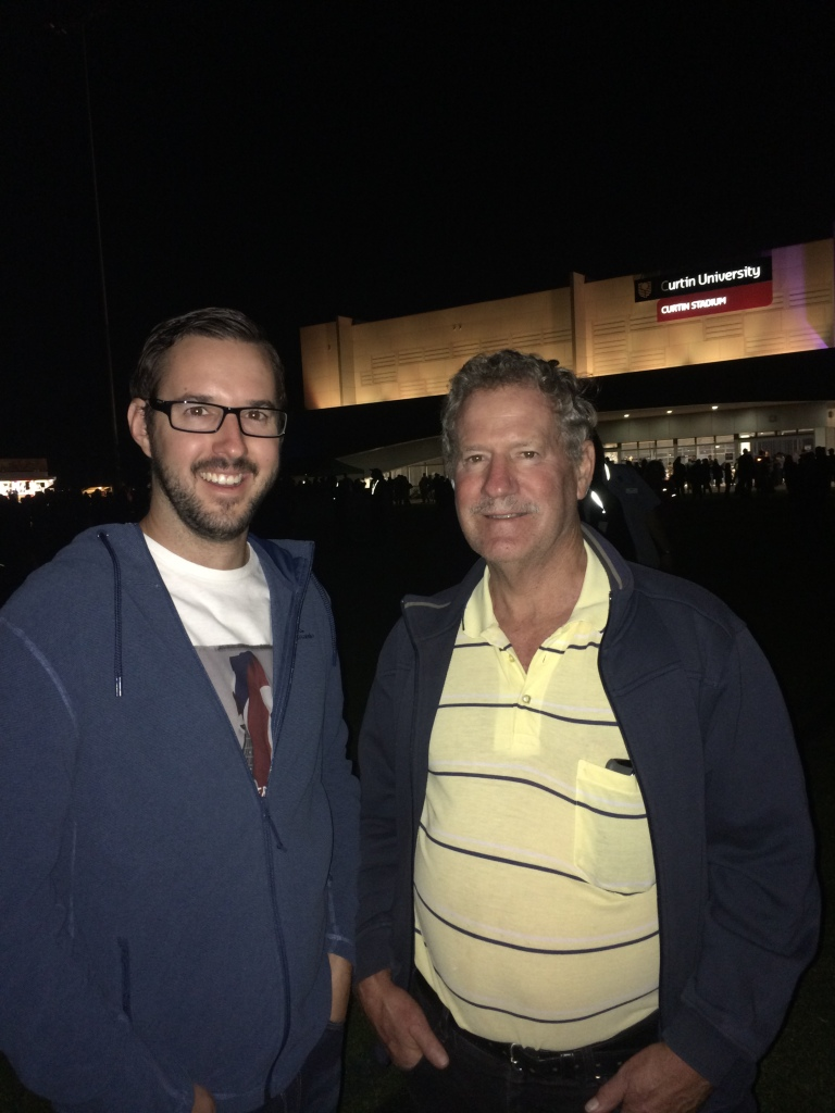 Dad and I at Astrofest. 28 March 2015.