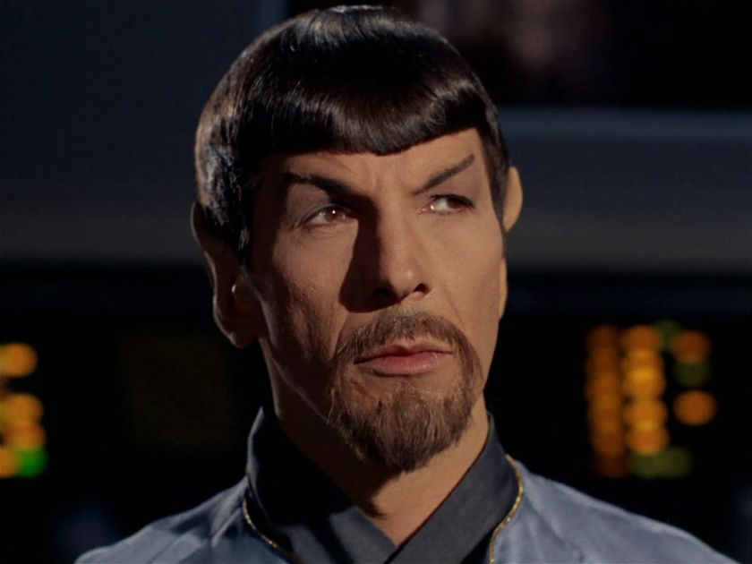 "Evil Spock from the 1967 Star Trek episode ""Mirror, Mirror"""
