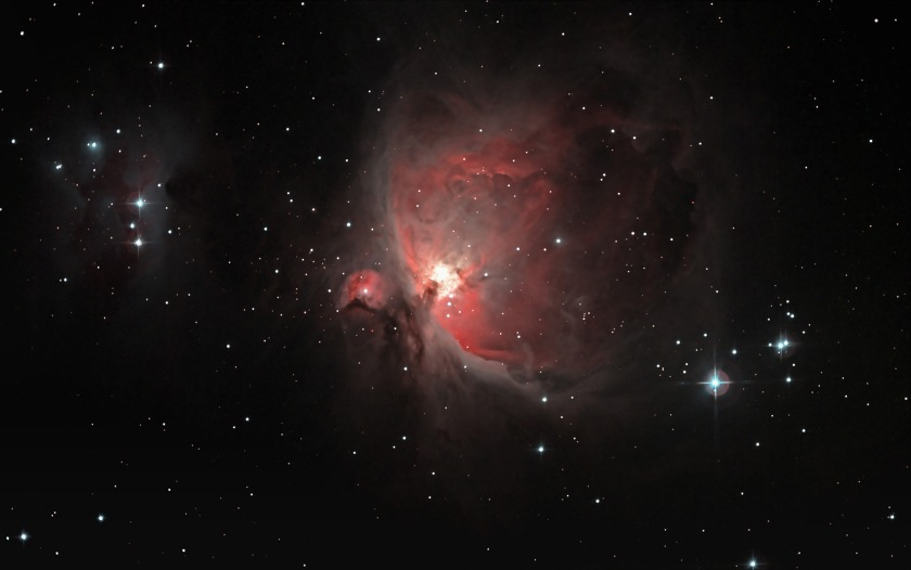 I wish I could say that the Orion Nebula looked as amazing as this photo, but it was decidedly less colourful.