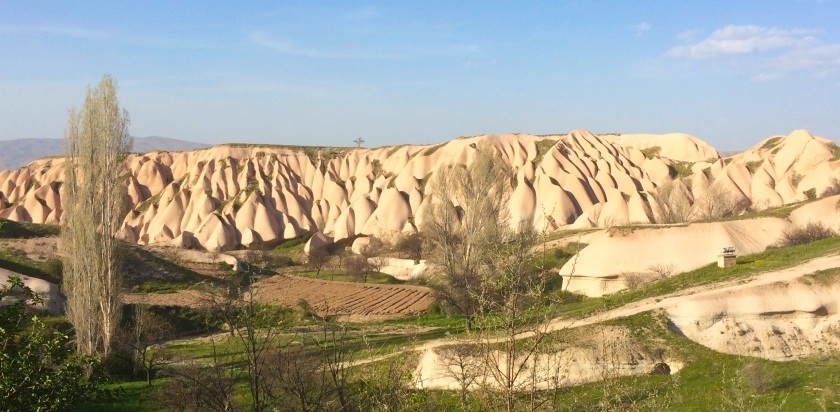 Wind will erode these formations into fairy chimneys