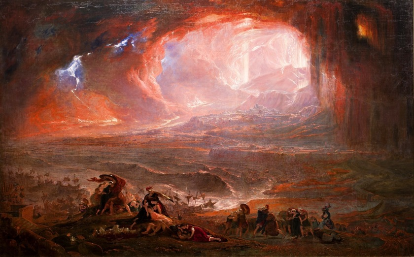 """John Martin's 1822 painting """"The Destruction of Pompeii and Herculaneum"""" may as well be a poster for """"Fury Road."""""""