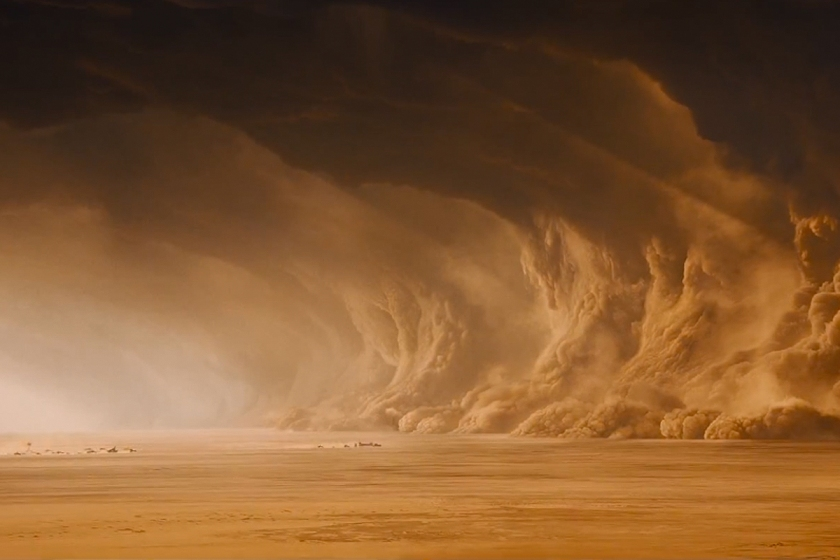The landscape of post-apocalypse Australia is brilliantly realized in Mad Max: Fury Road.