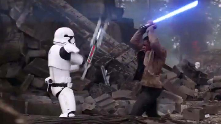 finn stormtrooper fight