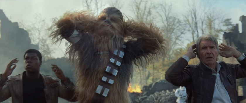 Star Wars trailer-3 Han Solo Finn Chewbacca Surrender