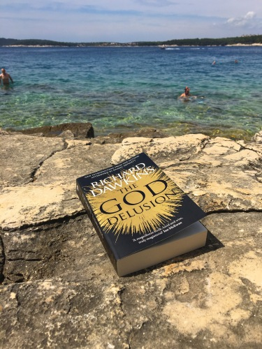 Atheism on the rocks - this was my reading material for the week I spent in sunny Pula, Croatia