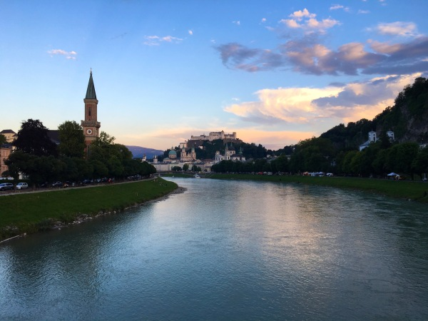 Salzburg at sunset was a pretty special sight.
