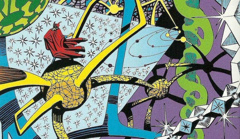 Steve Ditko's surreal artwork for Doctor Strange.