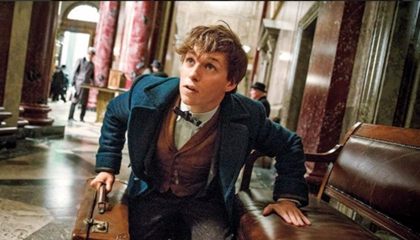 Eddie Redmayne as Newt Scamander.