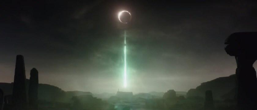 The Death Star tests its superlaser