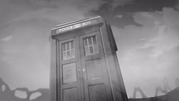 The TARDIS arrives on Vulcan.
