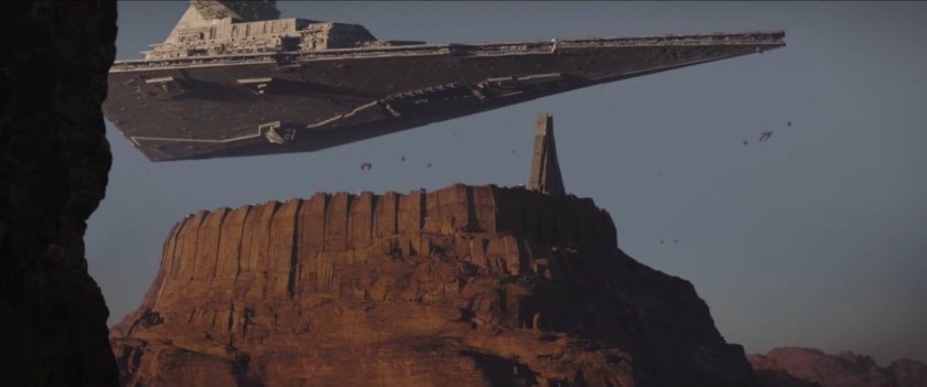 The Imperial occupation of Jedha sets the gritty tone for the film.